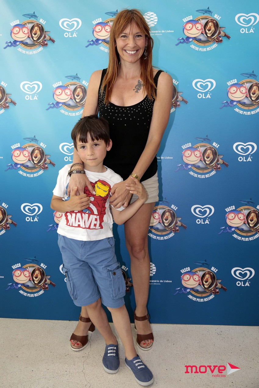 Ana Galvão com o filho
