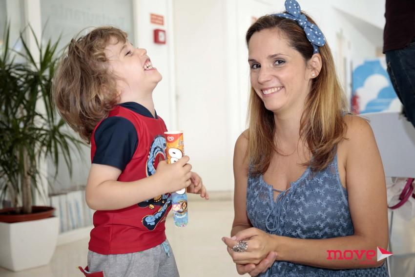 Márcia Leal com o filho