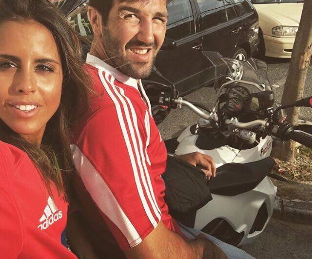 Carolina Patrocínio e o marido