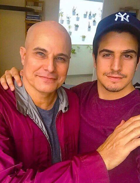 Edson Celulari com o filho Enzo