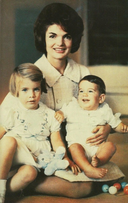First-Lady-Jacqueline-Kennedy-shortly-after-m-moving-into-the-White-House-with-three-year-old-daughter-Caroline-and-several-mont