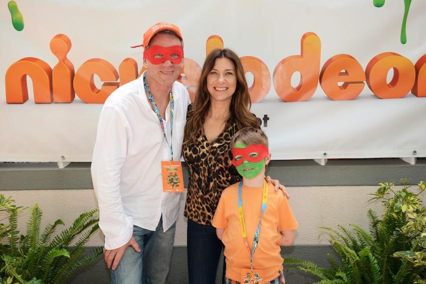 Adelaide Sousa com o marido e o filho