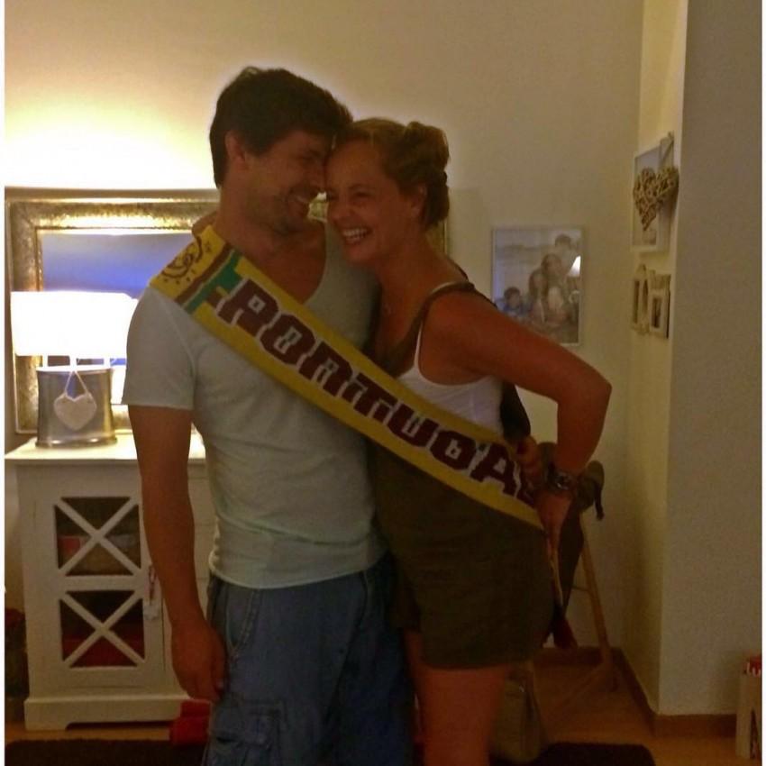 Bárbara Norton de Matos com o namorado, Ricardo Areia