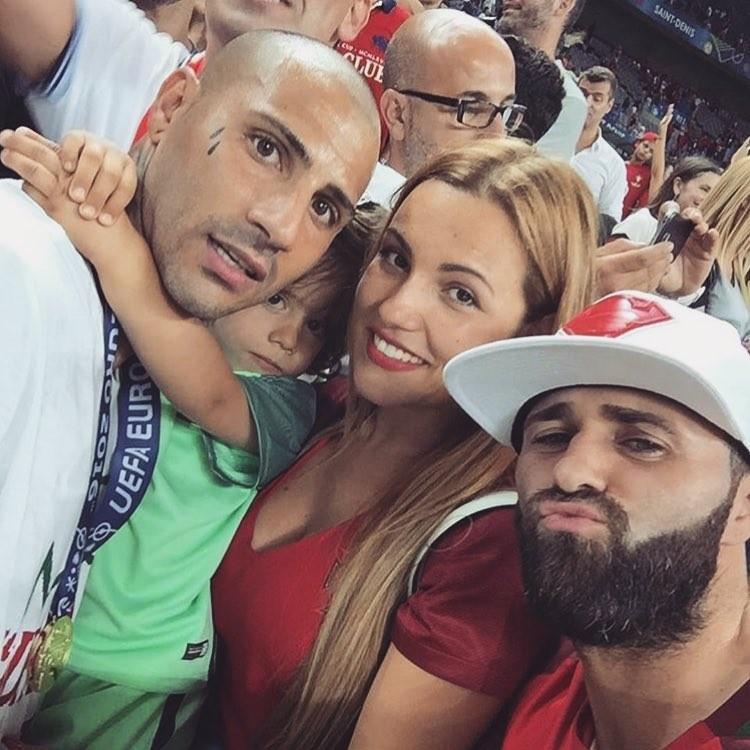 Dafne Santos, Ricardo Quaresma e o filho, Ricardo