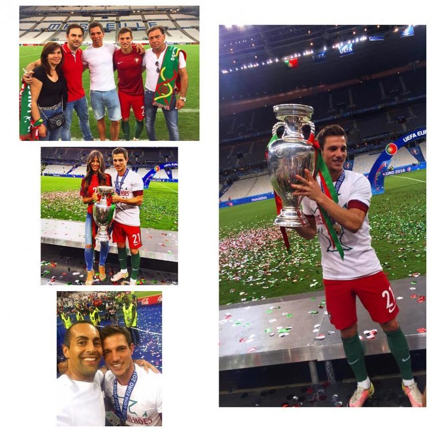 Cedric Soares e família