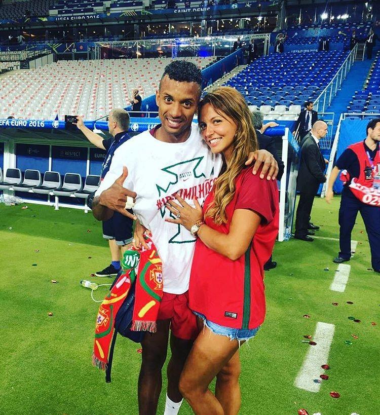 Nani e Daniela Martins