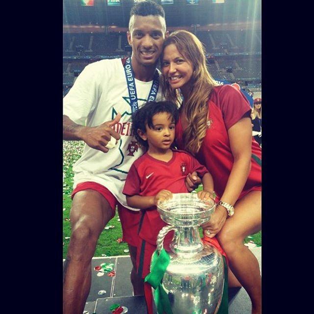 Nani, Daniela Martins e o filho