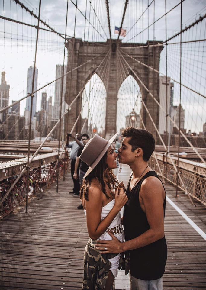 Ivo Lucas com a nova namorada em Nova Iorque