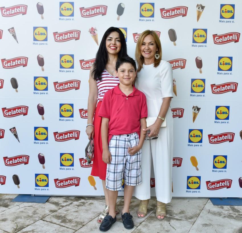 Ana Catarina Afonso com o filho,  Gabriel, e a mãe