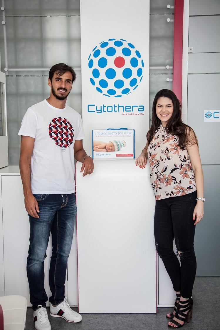 Carolina Jaikel e Bryan Ruíz