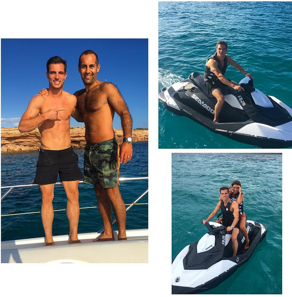 Cédric Soares nas férias