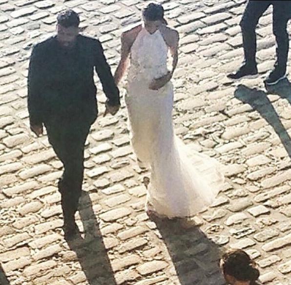 Ciara e Russell Wilson a caminho do jantar no dia anterior ao casamento