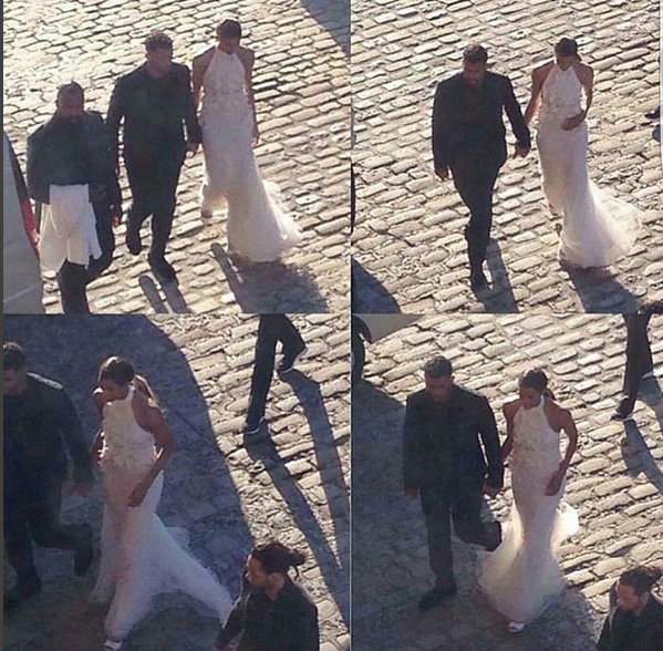 Várias imagens de Ciara e Russell Wilson a caminho do jantar no dia anterior ao casamento