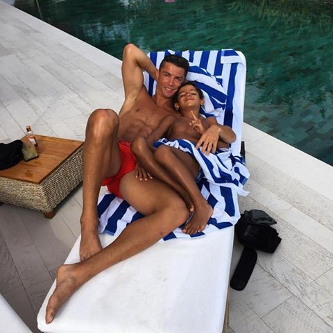 Cristiano Ronaldo e filho