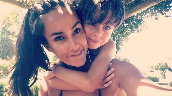 Francisca Pinto Ribeiro e filho