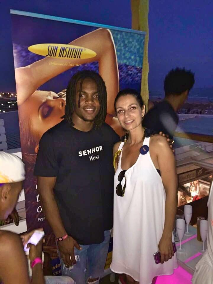 Renato Sanches e Sandrina Machado