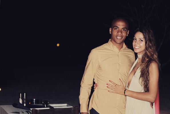 João Mário e namorada