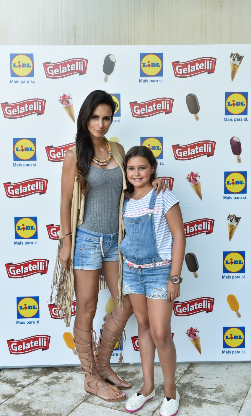 Lúcia Garcia com a filha, Matilde