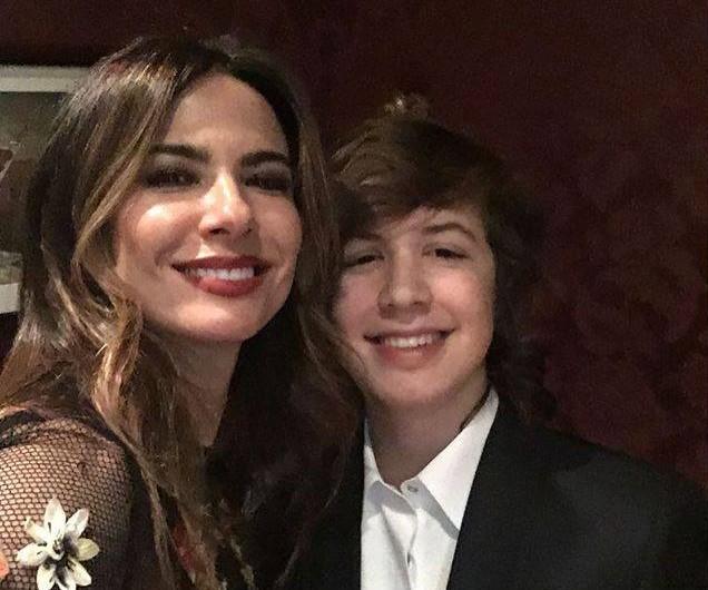 Luciana Gimenez e o filho Lucas Jagger
