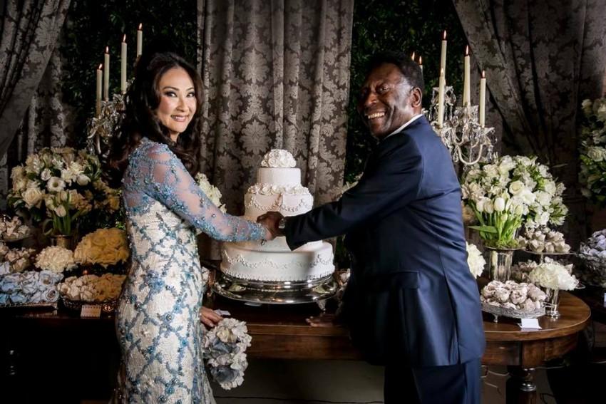 Marcia Cibele Aoki e Pelé
