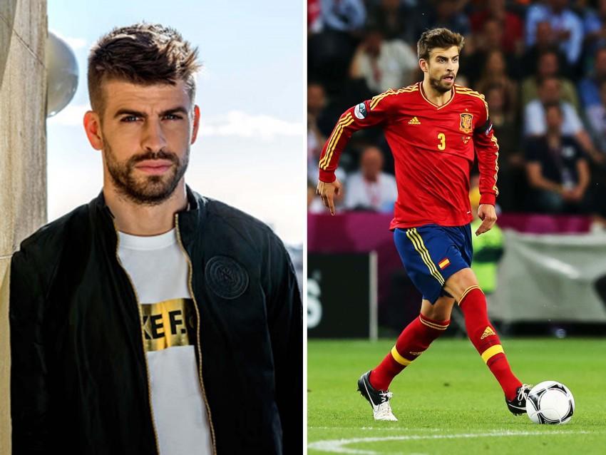 3º - Gerard Piqué, 27 anos: Namorado da cantora colombiana Shakira, é defesa da seleção espanhola e um dos homens mais admirados pelas mulheres de todo o Mundo. Os seus olhos verdes, lábios carnudos e corpo musculado não deixam ninguém indiferente.