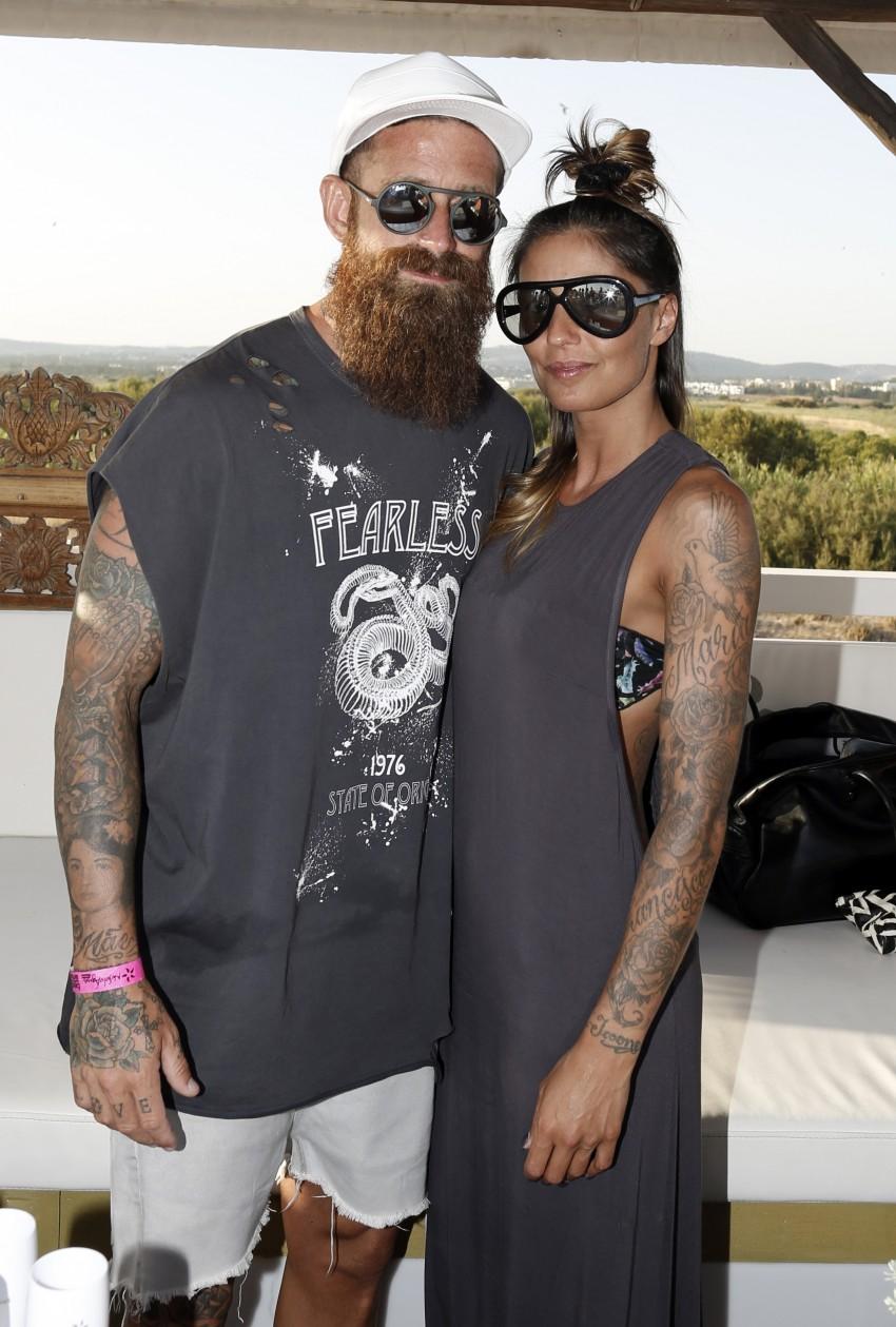 Raúl Meireles com a mulher, Ivone