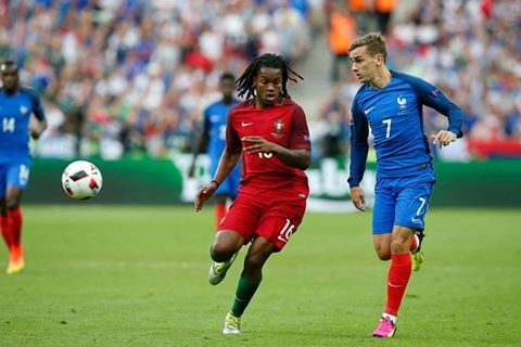 Renato Sanches e Griezmann na final