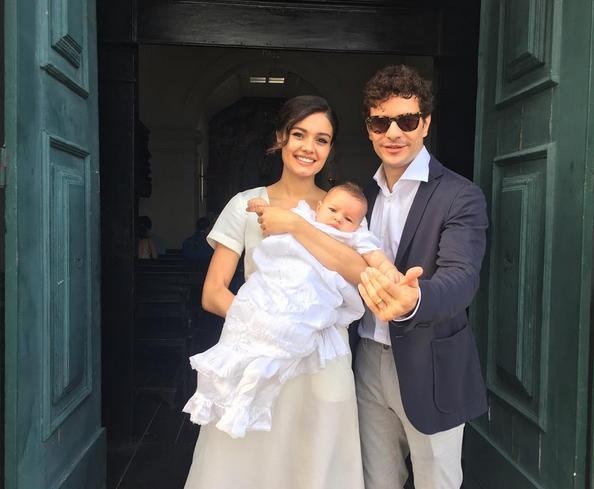 Sophie Charlotte,  Daniel de Oliveira e filho Otto