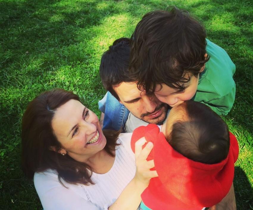 Tânia Ribas de Oliveira e família