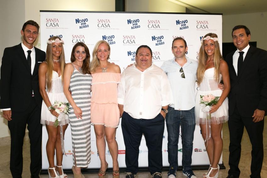 O elenco: Patrícia Tavares, Carla Andrino, Fernando Mendes e Jorge Mourato