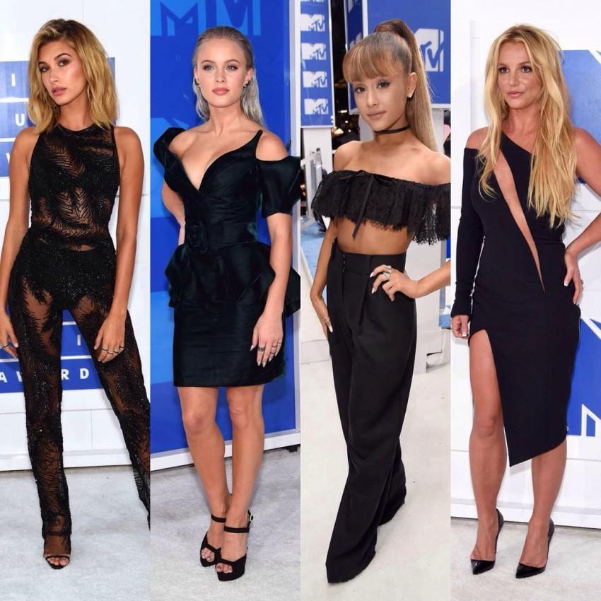 Hailey Baldwin, Ariana Grande e Britney Spears