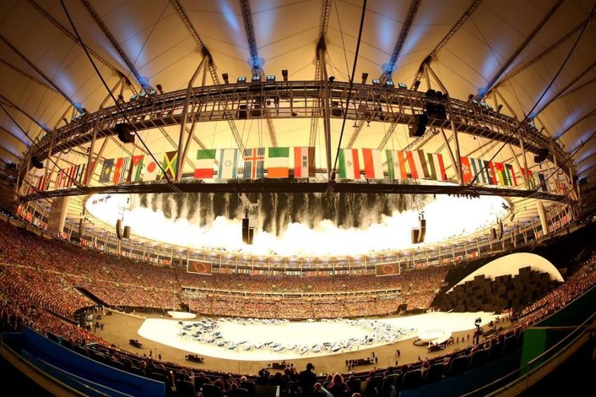 O Estádio do Maracanã pronto para a cerimónia