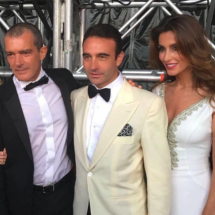 Antonio Banderas com o toureiro Enrique Ponce