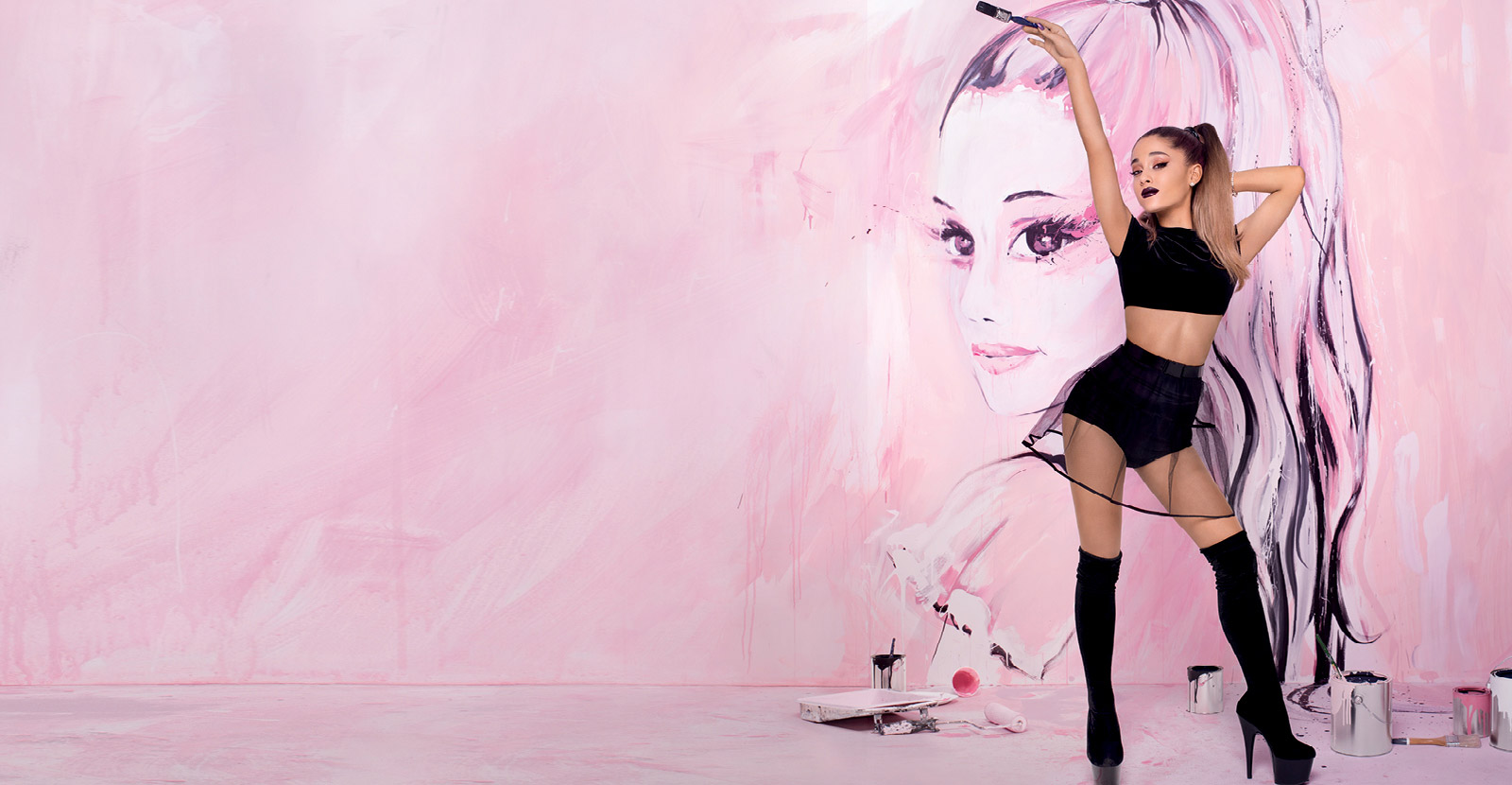 ariana grande body paint