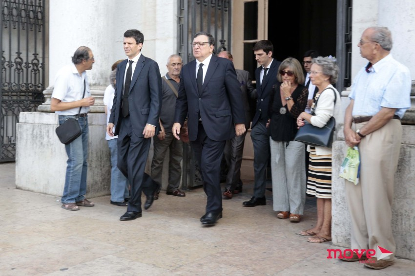 Durão Barroso com o filho mais velho Luís (esquerda) e o mais novo Francisco (à direita)