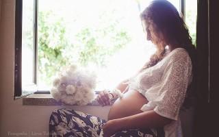 Durante a gestação da filha mais nova foram várias as imagens que partilhou