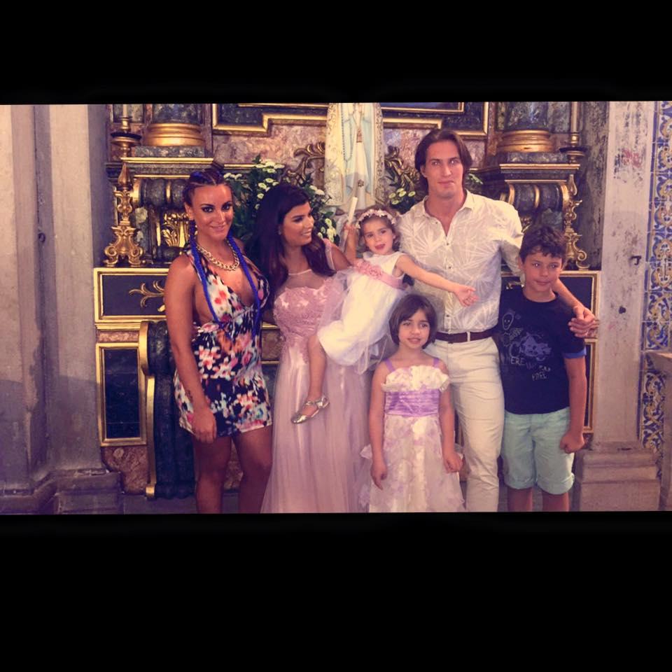 Batizado de Yasmin, filha de Sofia e Thierry