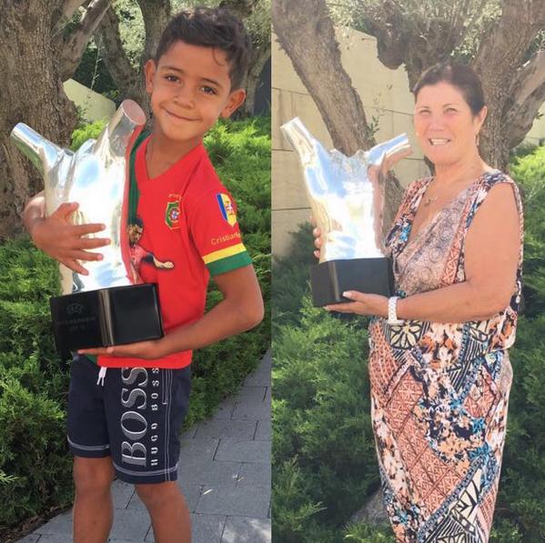 Cristianinho e Dolores Aveiro prémio UEFA