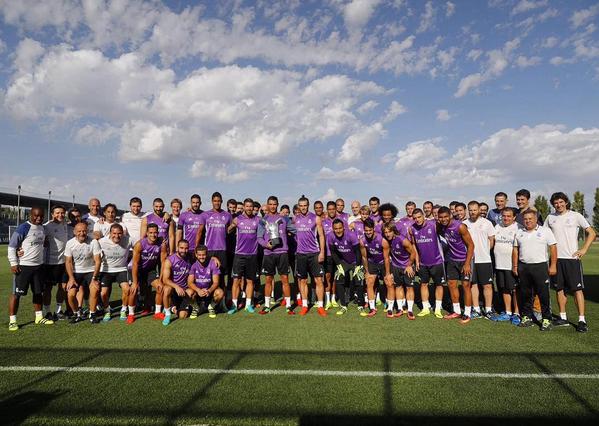 O craque esteve nos treinos do Real Madrid de manhã