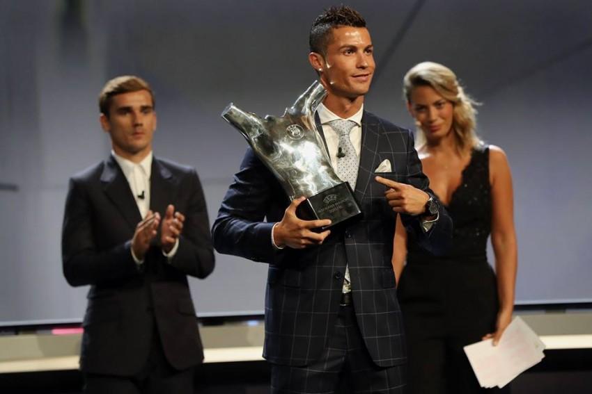 Cristiano Ronaldo Prémio Melhor Jogador UEFA