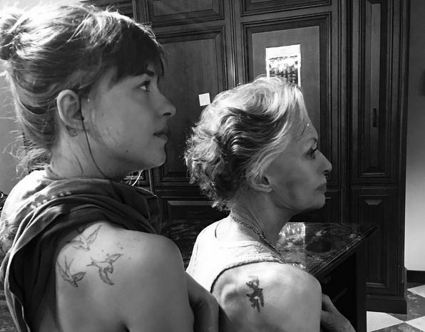 Dakota Johnson e Tippi Hedren