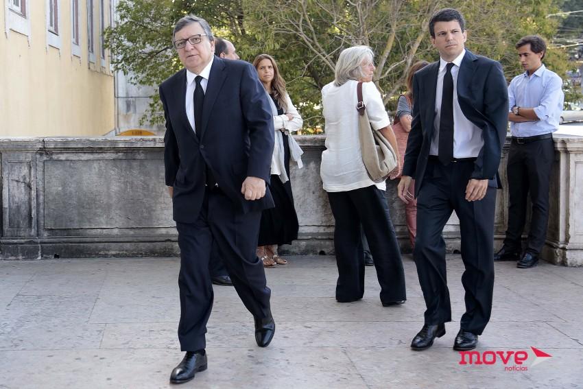 Durão Barroso e o filho Luís