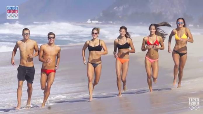 Equipa checa olímpica Baywatch