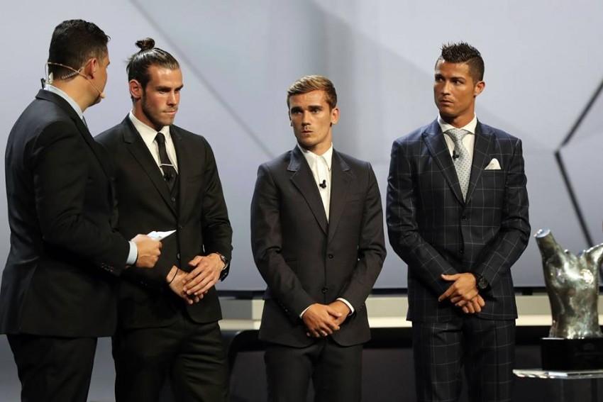 Gareth Bale. Antoine Griezmann, Cristiano Ronaldo Prémio Melhor Jogador UEFA 2