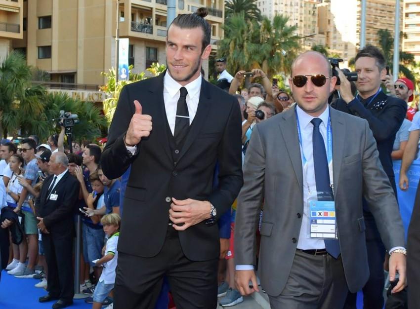 Gareth Bale a chegar à cerimónia do Melhor Jogador da Europa da UEFA