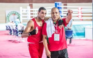 Hassan Saada (à esquerda na foto) com o treinador
