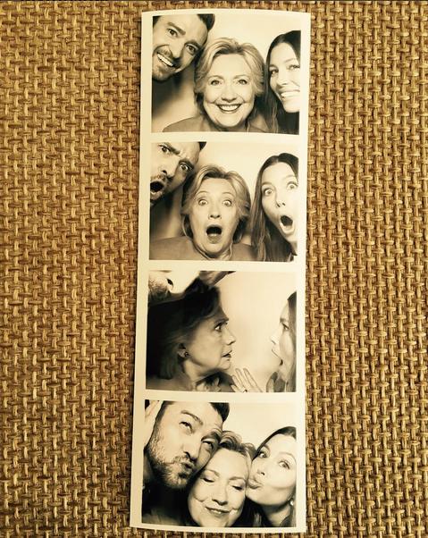 Justin Timberlake, Hillary Clinton e Jessica Biel