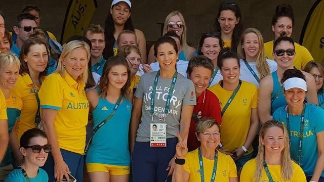 E com os atletas da Austrália