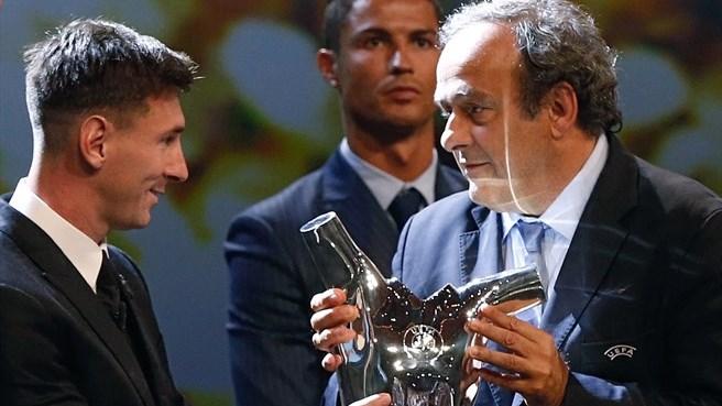 Messi e Cristiano Ronaldo Melhor jogador UEFA 2015