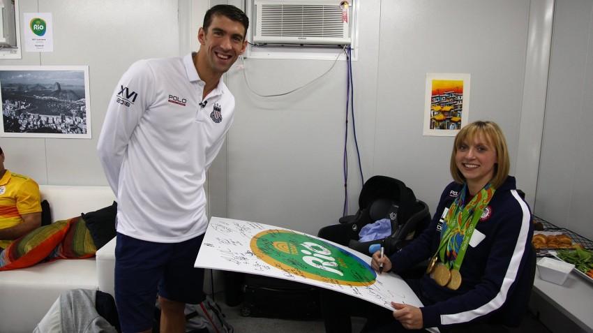 Michael Phelps e Katie Ledecky 2016